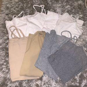 Tops - BUNDLE OF CAMIS!! 4 white 2 tan & 2 gray